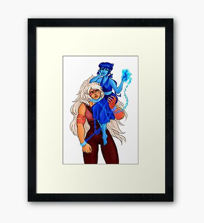 Unequal fusion Framed Print