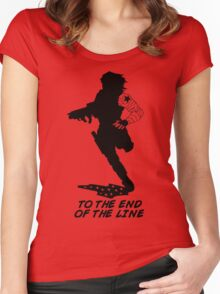 Winter Soldier - End of the Line - Silhouette (B) Women's Fitted Scoop T-Shirt