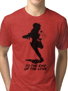 Winter Soldier - End of the Line - Silhouette (B) Tri-blend T-Shirt