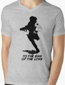 Winter Soldier - End of the Line - Silhouette (B) Mens V-Neck T-Shirt