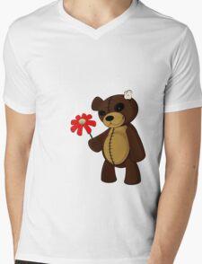 Sweet Teddy Mens V-Neck T-Shirt
