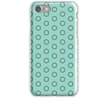 Blue Retro Pattern iPhone Case/Skin