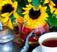 Autumn Tea Service Sticker