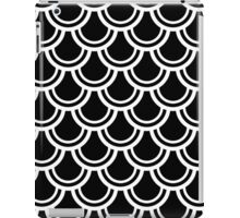 Black and White Deco Fans Pattern iPad Case/Skin