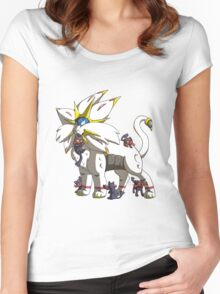 Solgaleo & Littens Women's Fitted Scoop T-Shirt