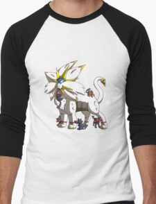 Solgaleo & Littens Men's Baseball ¾ T-Shirt