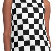 Checkered Flag, Chequered Flag, Checkerboard, Pattern, WIN, WINNER,  Racing Cars, Race, Finish line, BLACK Contrast Tank