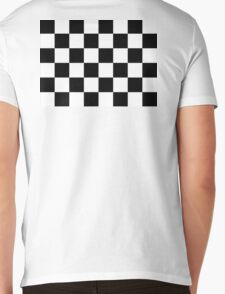 Checkered Flag, Chequered Flag, Checkerboard, Pattern, WIN, WINNER,  Racing Cars, Race, Finish line, BLACK Mens V-Neck T-Shirt