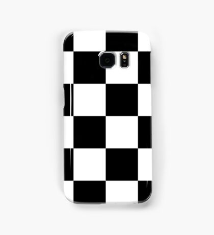 Checkered Flag, Chequered Flag, Checkerboard, Pattern, WIN, WINNER,  Racing Cars, Race, Finish line, BLACK Samsung Galaxy Case/Skin