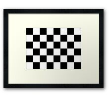 Checkered Flag, Chequered Flag, Checkerboard, Pattern, WIN, WINNER,  Racing Cars, Race, Finish line, BLACK Framed Print