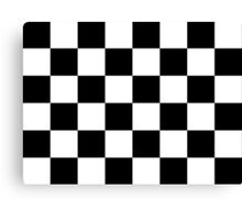 Checkered Flag, Chequered Flag, Checkerboard, Pattern, WIN, WINNER,  Racing Cars, Race, Finish line, BLACK Canvas Print