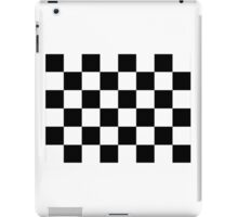 Checkered Flag, Chequered Flag, Checkerboard, Pattern, WIN, WINNER,  Racing Cars, Race, Finish line, BLACK iPad Case/Skin