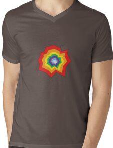 Rainbow Hole Mens V-Neck T-Shirt