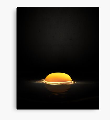 Raw Egg Yolk Canvas Print