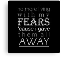 November lyric quote Canvas Print