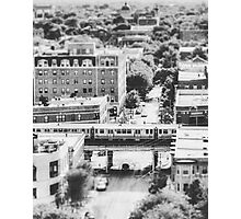 Uptown Chicago L in Black and White Photographic Print
