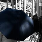 Lady with the Blue Umbrella by Deborah McGrath