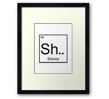 The element of Silence Framed Print