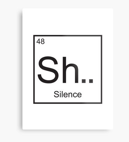 The element of Silence Metal Print