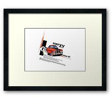 XY GT HO Ford Falcon Cartoon - Freddy Framed Print