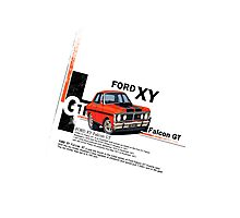 XY GT HO Ford Falcon Cartoon - Freddy Photographic Print