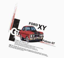 XY GT HO Ford Falcon Cartoon - Freddy by UncleHenry