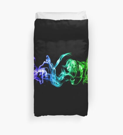 Colorful Abstract Smoke - A Rainbow in the Dark Duvet Cover