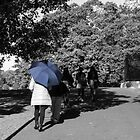 Lady with the Blue Umbrella 3 by Deborah McGrath