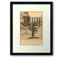 Israel, Jerusalem, A sketch of the Menorah sculpture  Framed Print