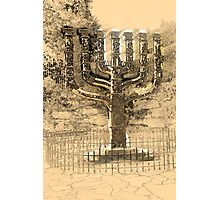 Israel, Jerusalem, A sketch of the Menorah sculpture  Photographic Print
