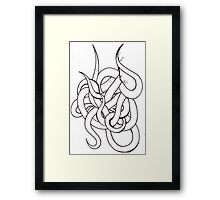 Tangle of Tentacles Framed Print