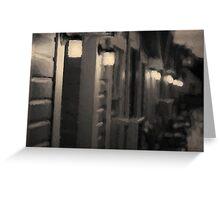Rainy Night Motel II Toned Greeting Card