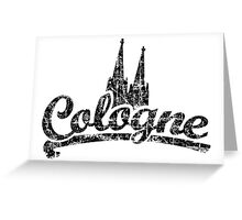 Cologne Classic Vintage Schwarz Greeting Card