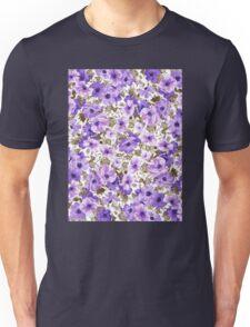 Purple Flower Pattern Unisex T-Shirt