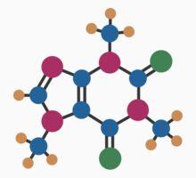 Caffeine Molecular Structure One Piece - Short Sleeve