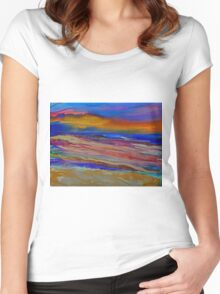 Abstract Sea Women's Fitted Scoop T-Shirt