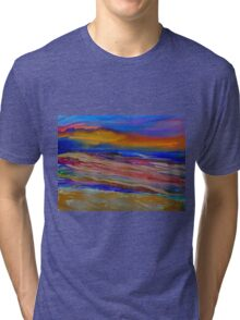 Abstract Sea Tri-blend T-Shirt