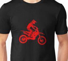 Motocross red Unisex T-Shirt
