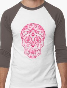 Mexican Day of the death sugar skull, day of the dead  Men's Baseball ¾ T-Shirt