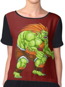 Blanka - green fighter Chiffon Top