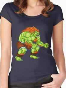 Blanka - green fighter Women's Fitted Scoop T-Shirt
