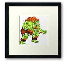 Blanka - green fighter Framed Print