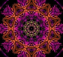 Colour Digital Abstract with Kaleidoscope insert Sticker