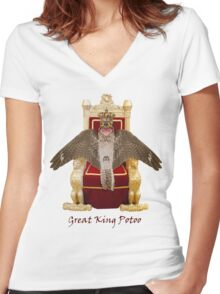 Potoo! Women's Fitted V-Neck T-Shirt