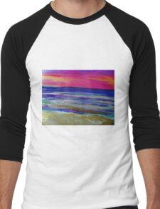 The Sea at Sunset Men's Baseball ¾ T-Shirt