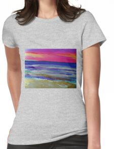 The Sea at Sunset Womens Fitted T-Shirt