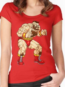 Zangief - russian fighter Women's Fitted Scoop T-Shirt