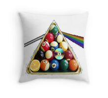 A Game of Pool Throw Pillow