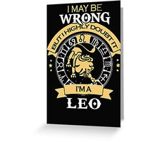 I maybe Wrong- but I high doubt it - I'm a LEO Greeting Card