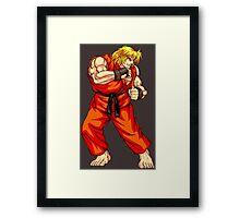 Ken - Hadoken fighter Framed Print